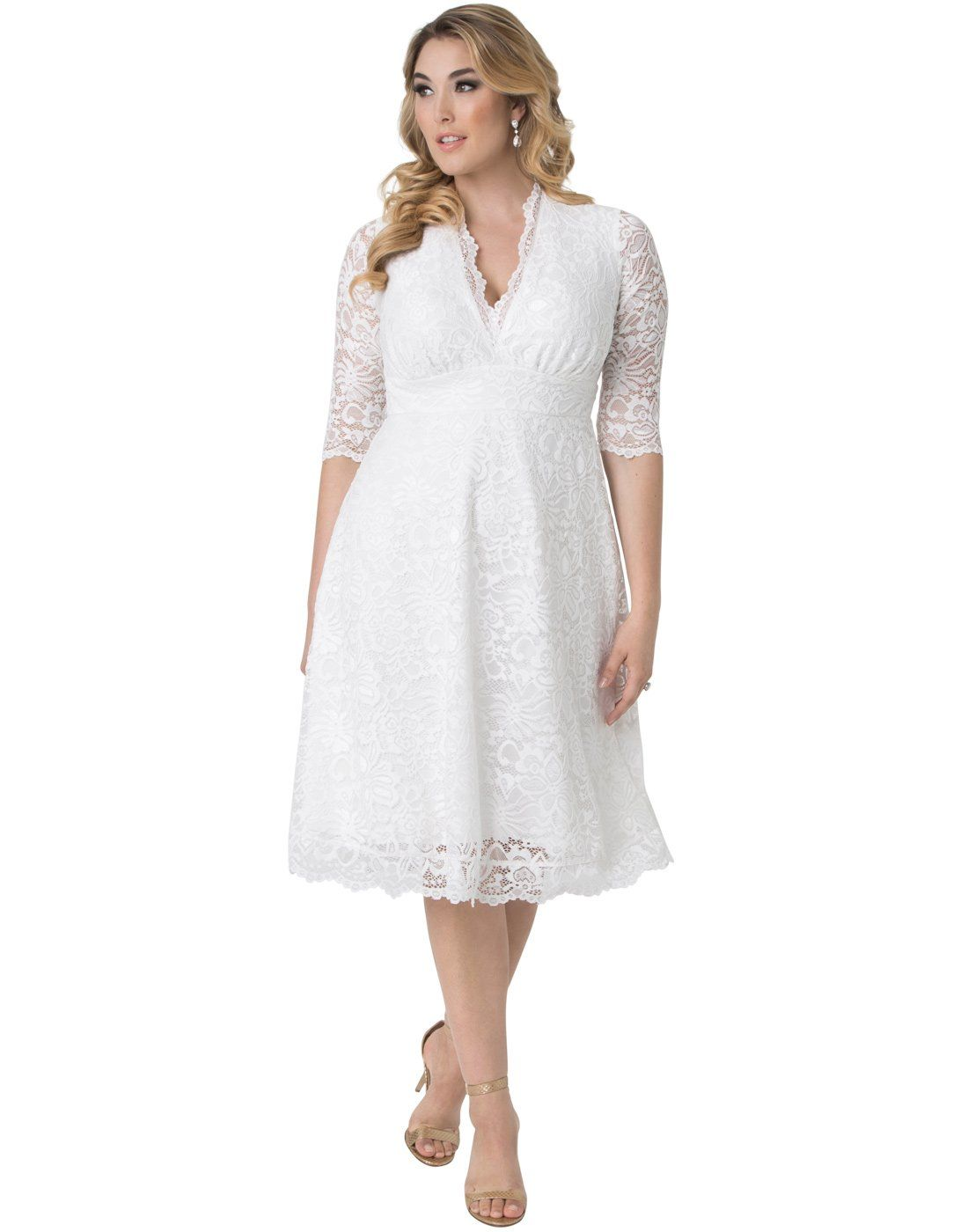 c89820268dd8 Kiyonna Womens Plus Size Wedding Belle Dress 5X Ivory -- Read more at the  image link. (This is an affiliate link)