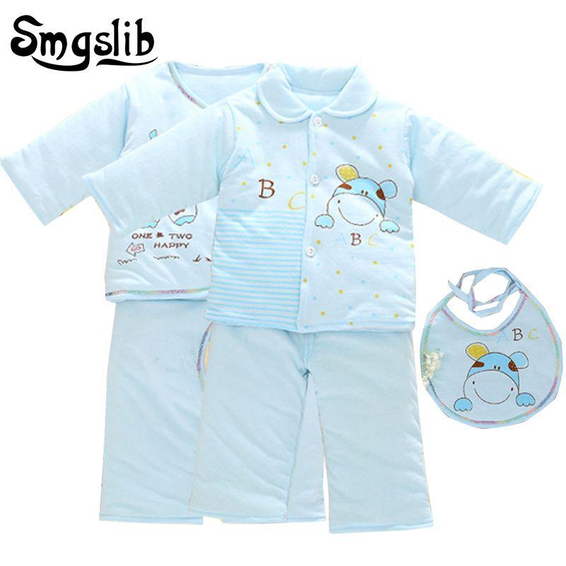 5e0959409 5pcs Baby girl winter clothes Set Warm cow T-shirt Pants Suit Autumn ...