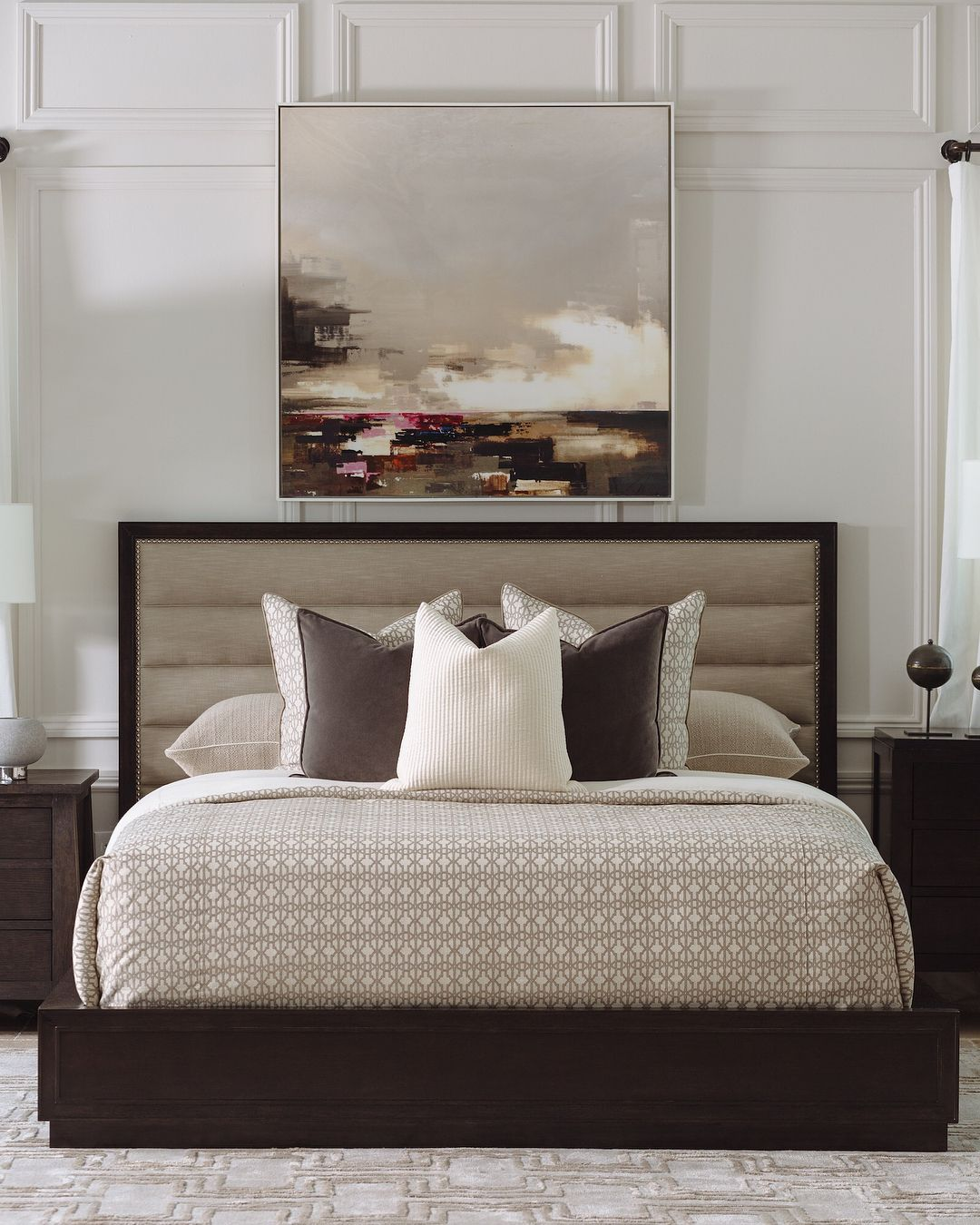 Take Your Bedroom To The Next Level With Custom Designs From A R T Talk To Our Style Advisors Via Link On Bio In Bed Design Interior Design Bedroom Art sample bedroom furniture