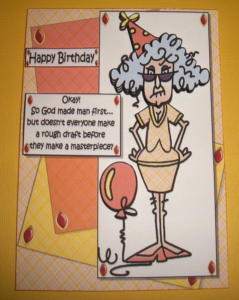 Handmade card 3d humorous birthday greeting with an old lady handmade card 3d humorous birthday greeting with an old lady birthday m4hsunfo