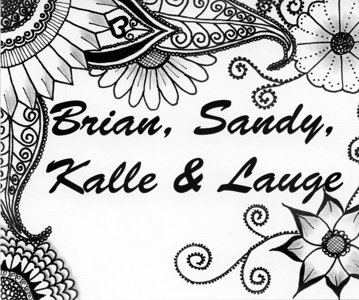 Name sign for front door with zentangle design by sandy rosenvinge name sign for front door with zentangle design by sandy rosenvinge lundbye rubansaba
