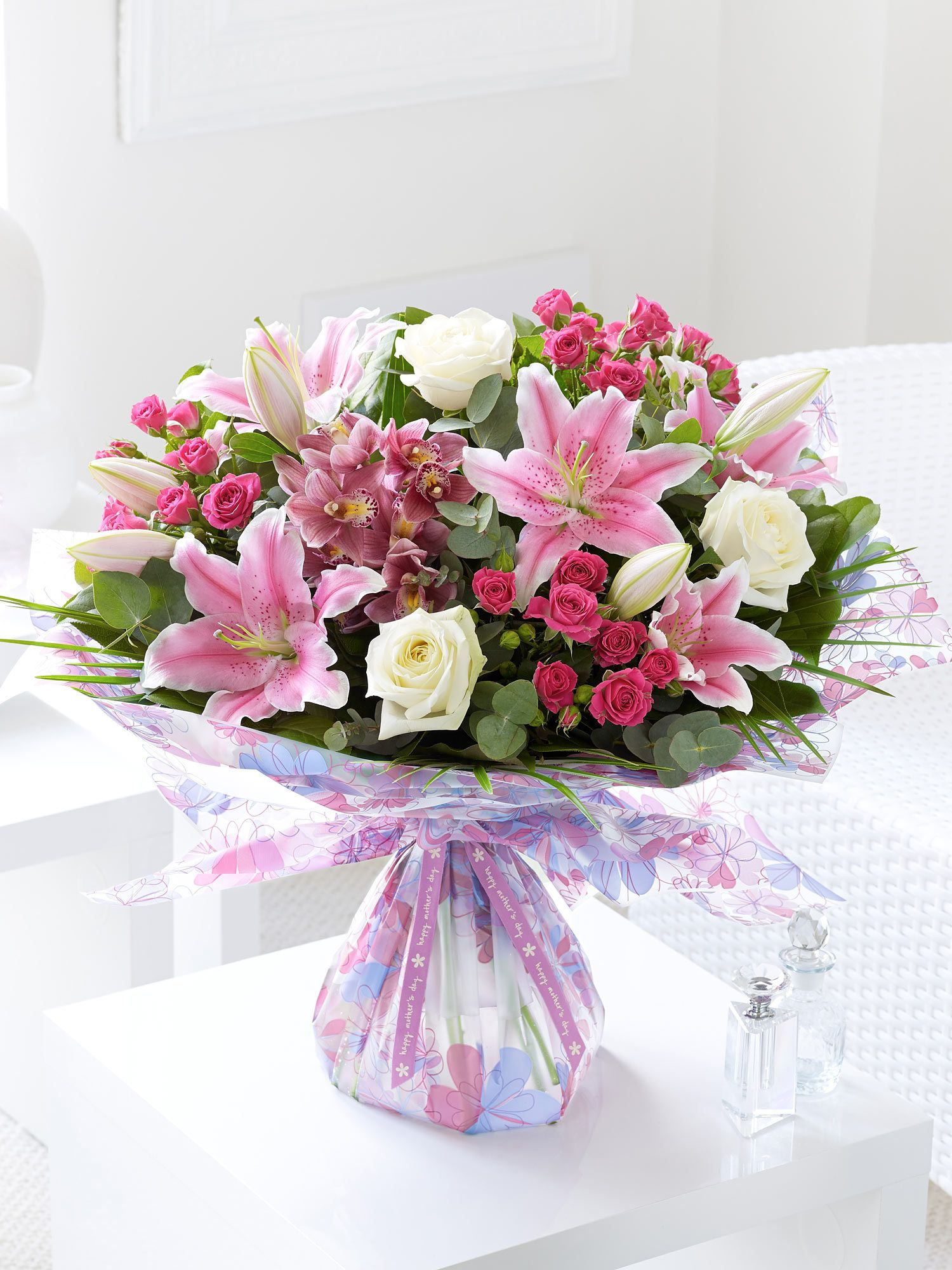 Booker Flowers Floral Emporiums Mother S Day Extravagance Hand Tied Interflora Mothers Day Flowers Mothers Day Flower Delivery Same Day Flower Delivery