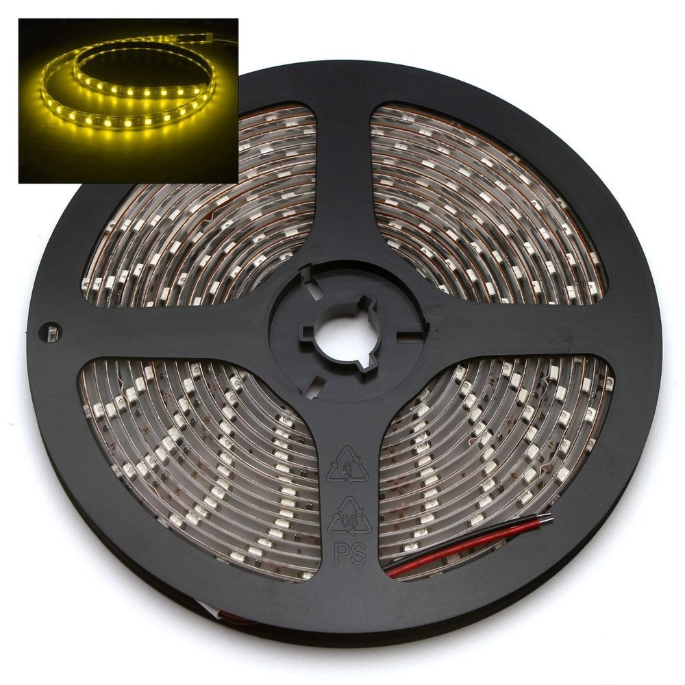 Yellow 5M 3528 Led SMD 300 Lights Flexible Waterproof Strip Light DC 12V #Unbranded