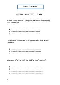 personal hygiene worksheet 3 keeping your teeth healthy Personal ...