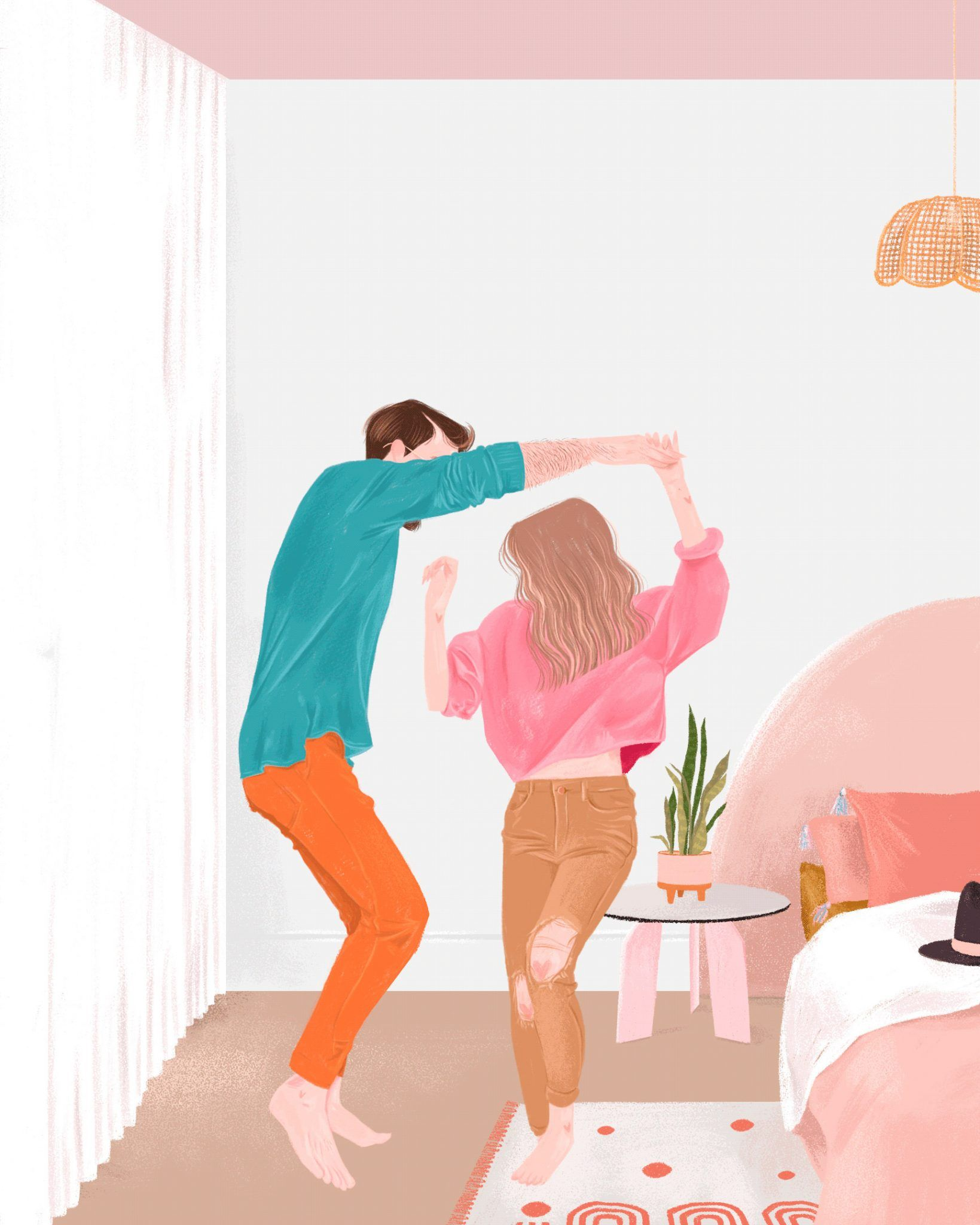 Beautiful Illustrations By Malena Flores Daily Design Inspiration For Creatives Inspiration Grid In 2020 Cute Couple Art Illustration Art Girl Pop Art Wallpaper