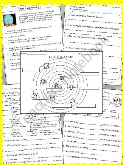 your teacher 39 s aide free solar system worksheets teach science ideas solar system. Black Bedroom Furniture Sets. Home Design Ideas