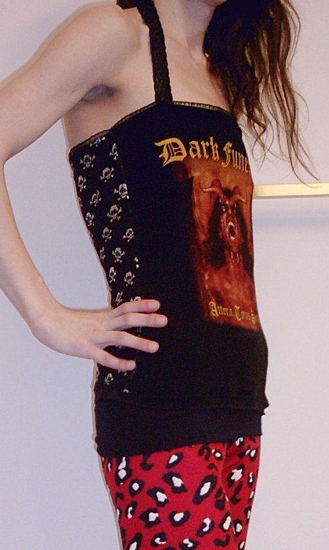 DARK FUNERAL Halter Top Death Metal DIY by DarkStormClothing, $24.00
