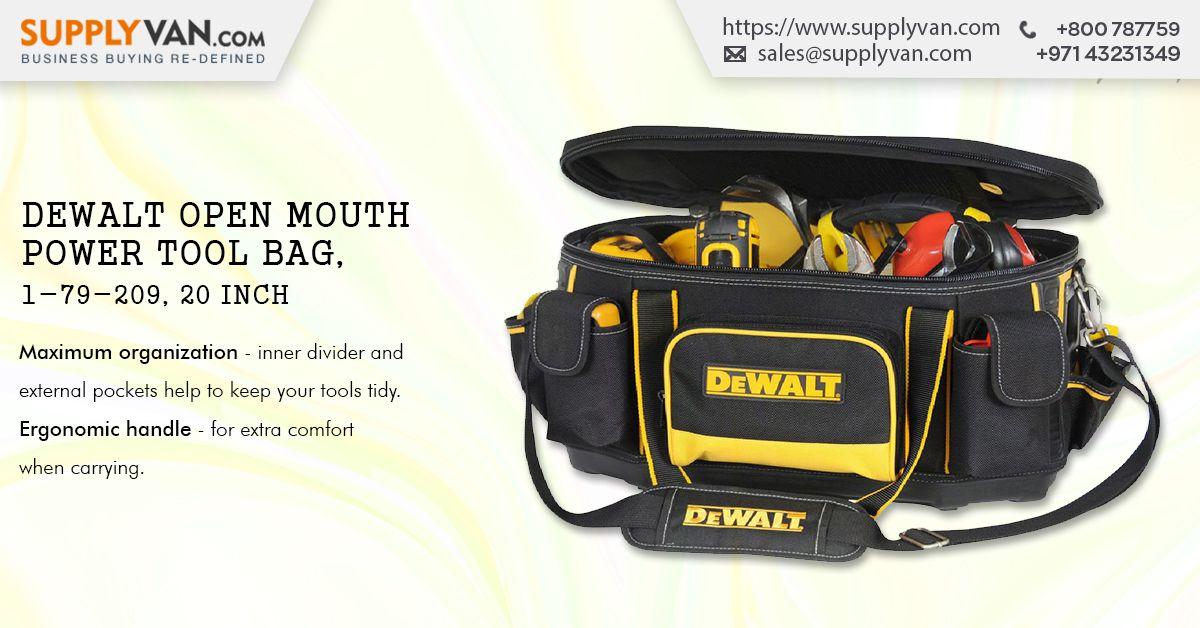Dewalt open mouth power tool bag 179209 20 inch