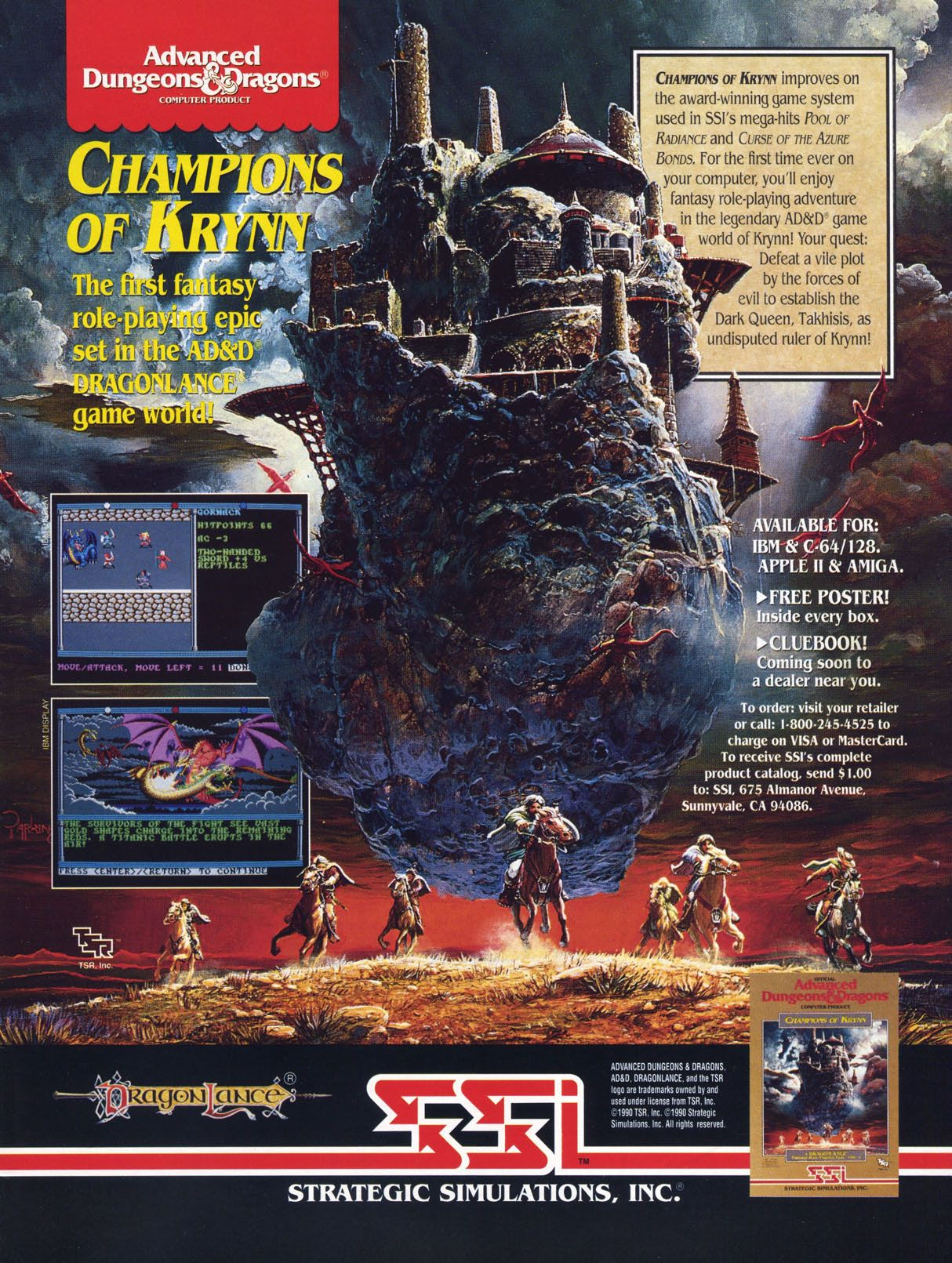 Ad D Champions Of Krynn Retrogaming Ads Ad D Dungeons And
