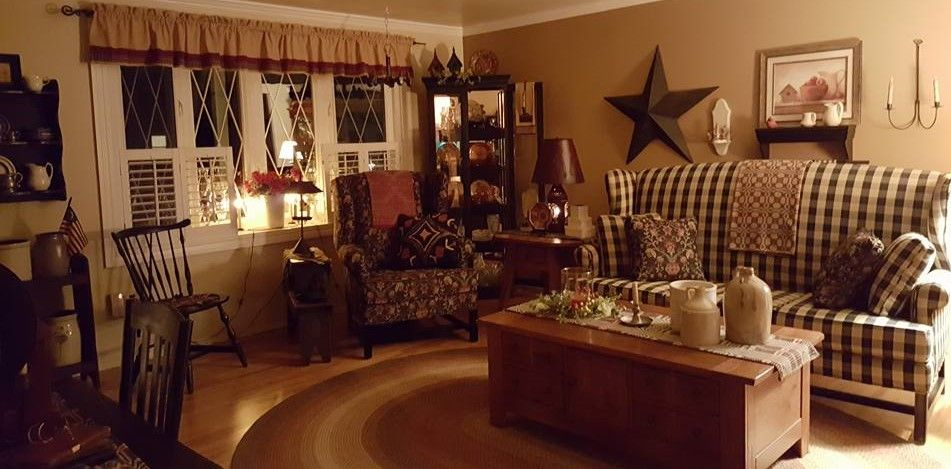 Pin By Mary Fekete Bucci Neal On Decorating Primitive Living Room Livingroom Layout Country Living Room