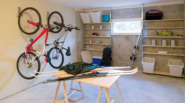 Rangement: un garage bien organisé | Le vélo, Garage et Rangement