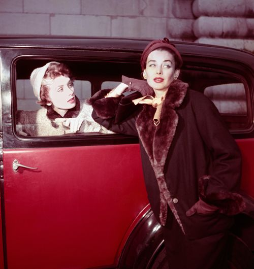 Suzy Parker & Dorian Leigh photographed by Georges Dambier, 1954.