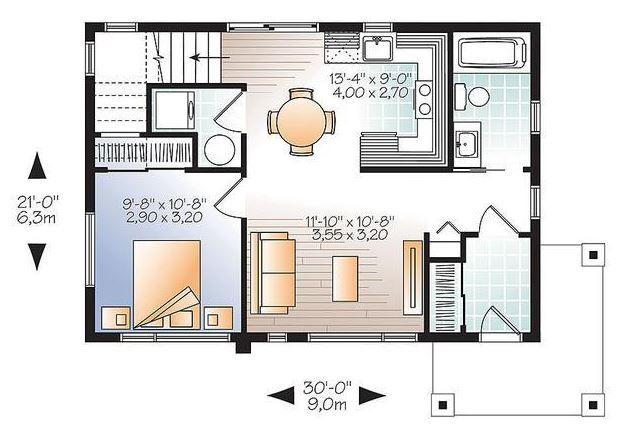 Modelos de casas sencillas para construir planos de for Planos de casas chicas