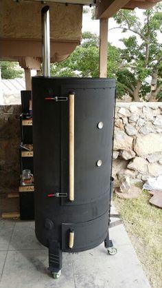 100 Gallon Water Heater Bbq Smoker Asador Carne Ahumada Equipos De Cocina