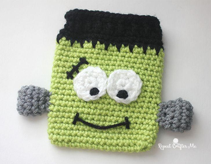 Crochet Frankenstein Candy Pouch | Halloween Chic Crochet ...