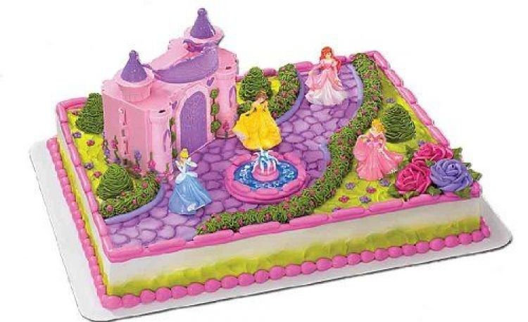 Disney Princess Cake Topper Decoration Castle Kit