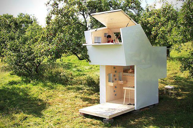 Cabane minimaliste en bois entièrement modulaire Tiny houses