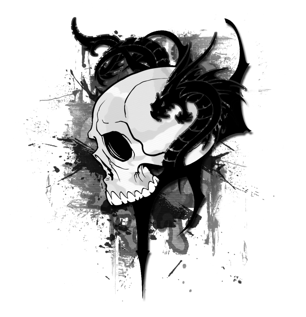 skulls and dragons wallpapers black skull dragon