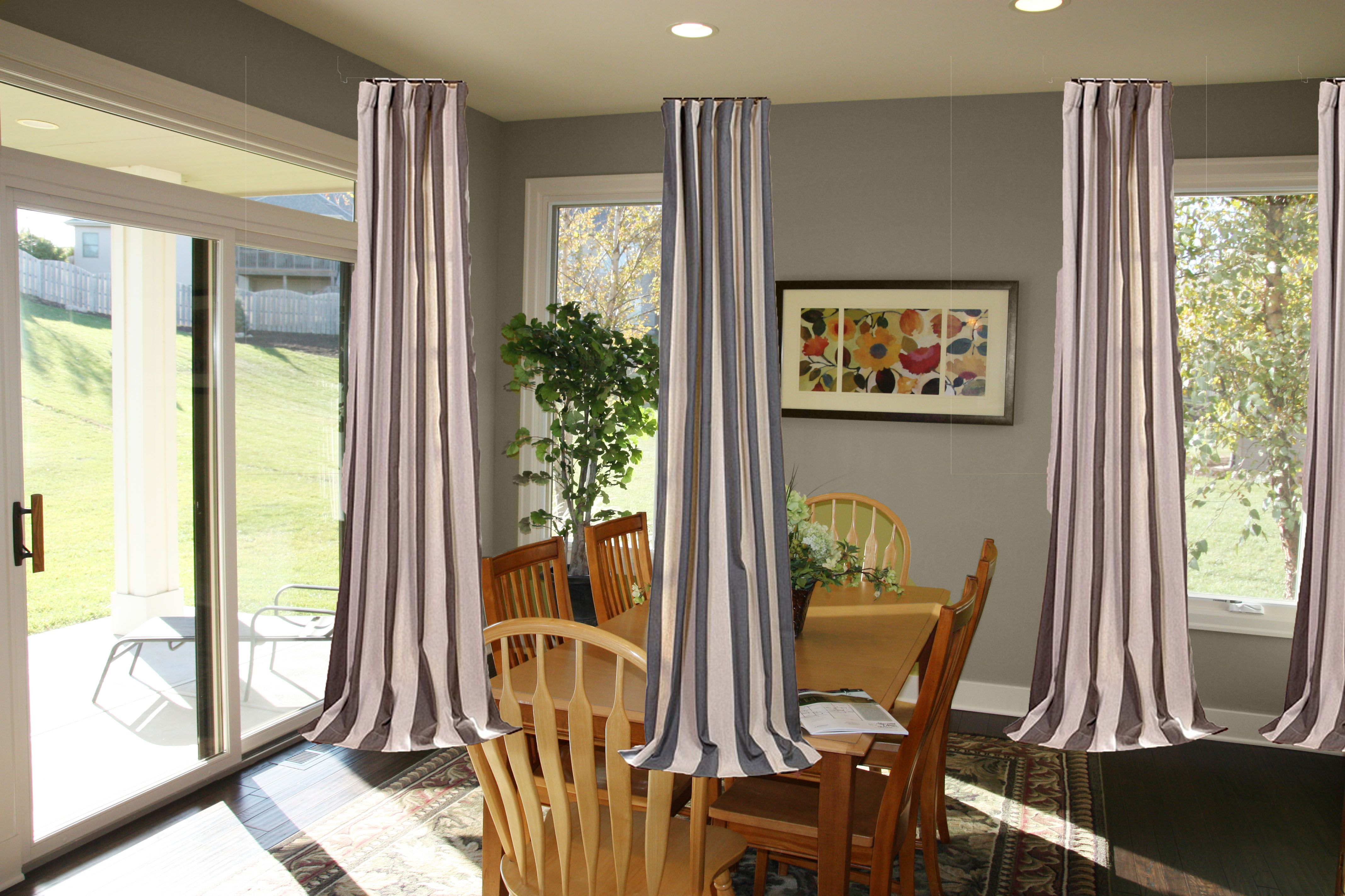 Image Result For Short Curtain Rods For Side Panels Dining Room Decor Dining Room Walls Patio Door Curtains