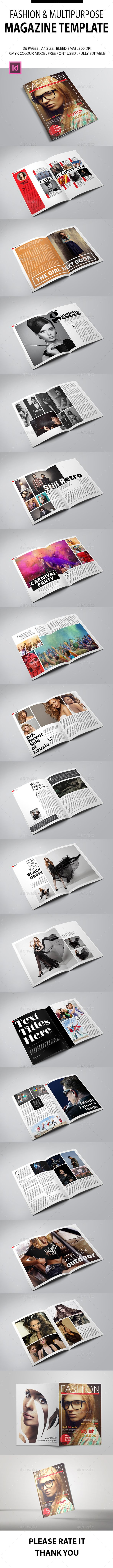 Fashion & Multipurpose Magazine Template | Revistas