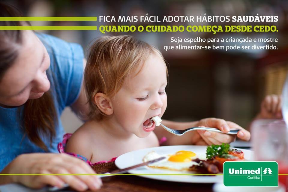 Bons exemplos!  A importância dos pais para os filhos conquistarem uma consciência saudável e descobrirem os benefícios da boa alimentação: http://unimed.me/GRA6c8
