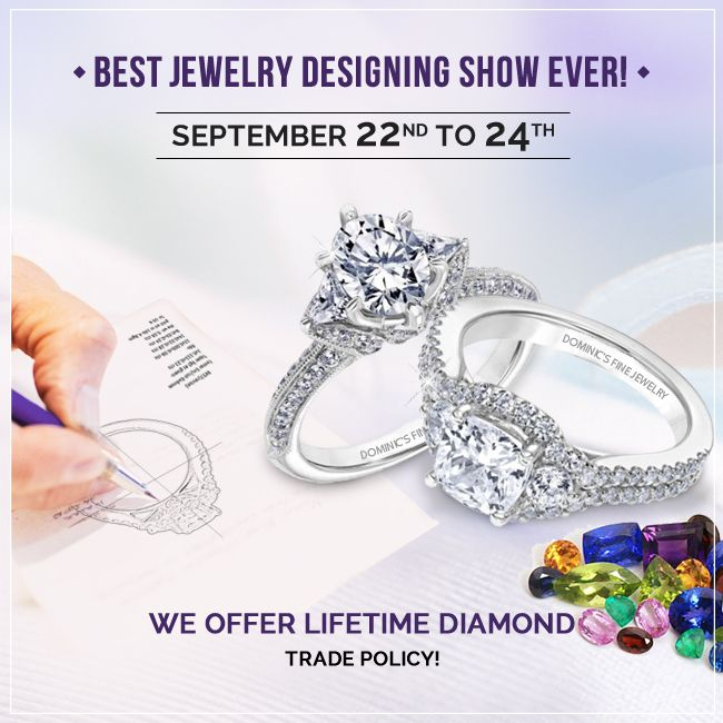 Dominic's Fine Jewelry invites you to our Best Jewelry designing Show EVER!  #artisan #diamonds #gemstones #fashion
