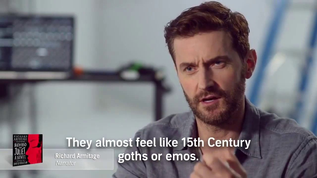 Richard Armitage says Emo for Audible - Romeo and Juliet