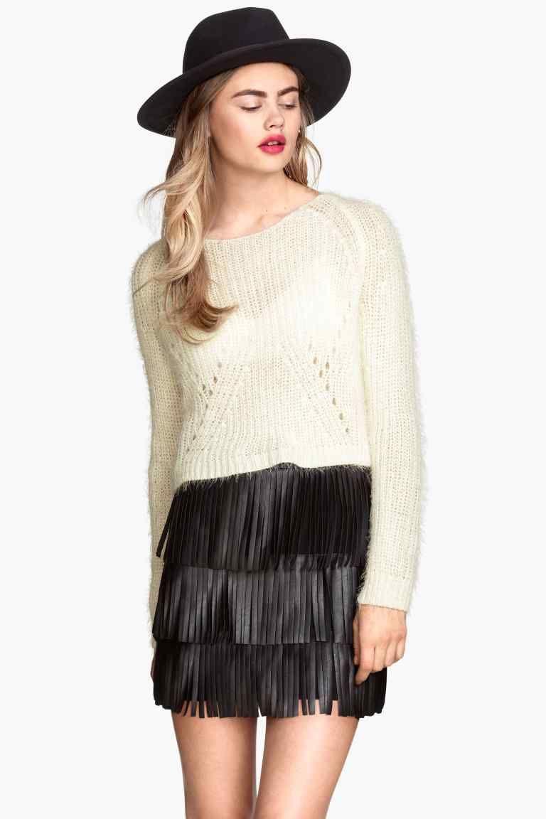Falda con flecos | H&M | Casual / Juerga | Pinterest | Sombreros ...