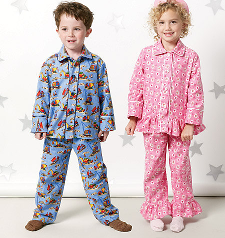 6f09a7fa8 CHILD PAJAMAS PATTERN   Boys and Girls Pants - Tops - Pjs   Size 4 ...