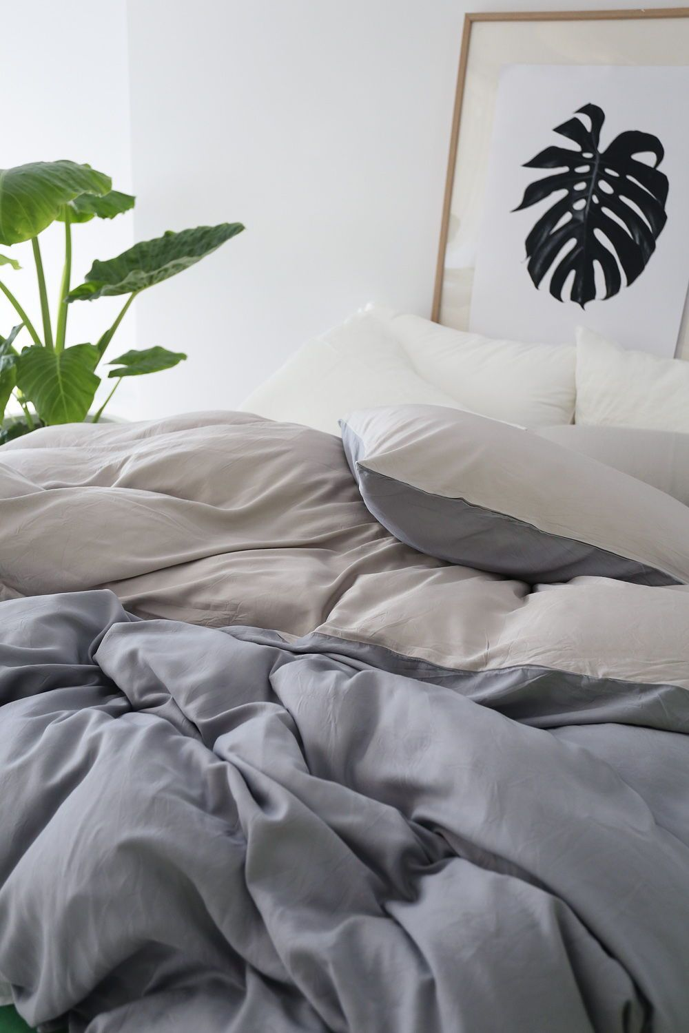Bamboo Charcoal Doona Cover Set Side Bed Bamboo Quilt Cover Sets