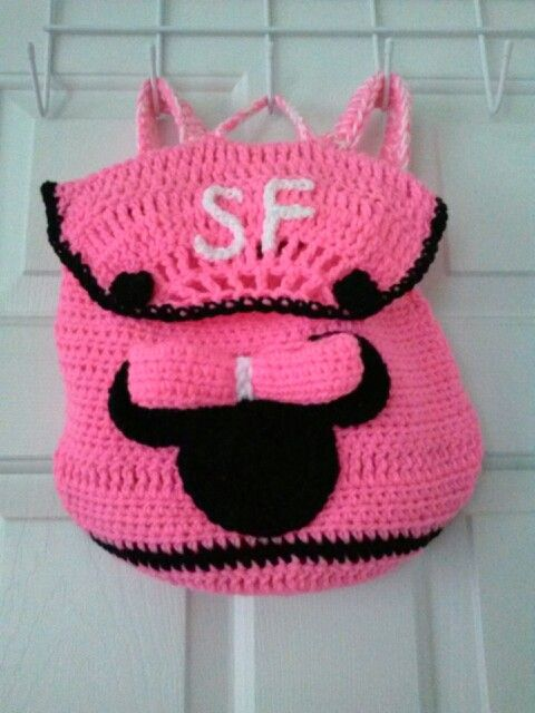 Crochet Custom Kids Minnie Mouse backpack! PURCHASE NOW at www ...
