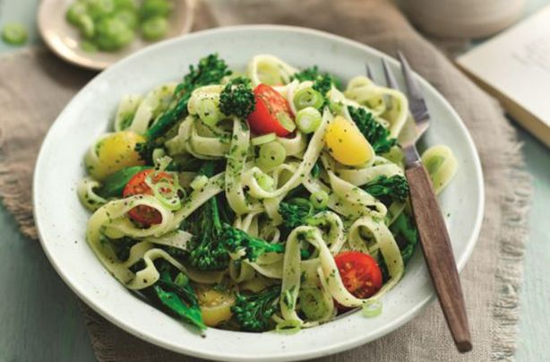Slimming Worlds fettucine with tenderstem broccoli