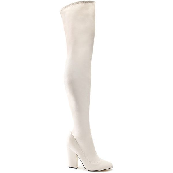 White leather boots, Leather over the