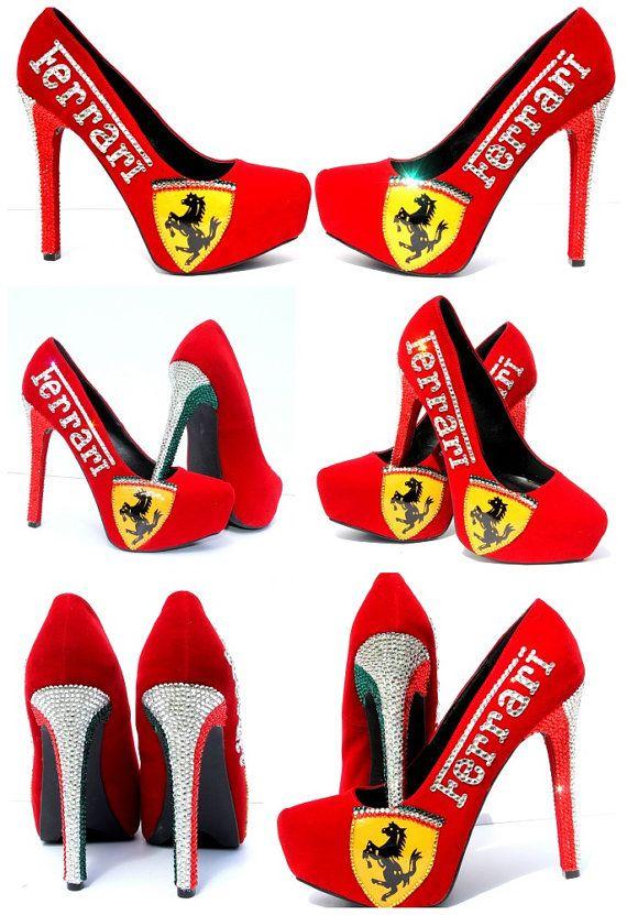 969d8167f Ferrari Fersen handgemalt mit von WickedAddiction auf Etsy | shoes ...