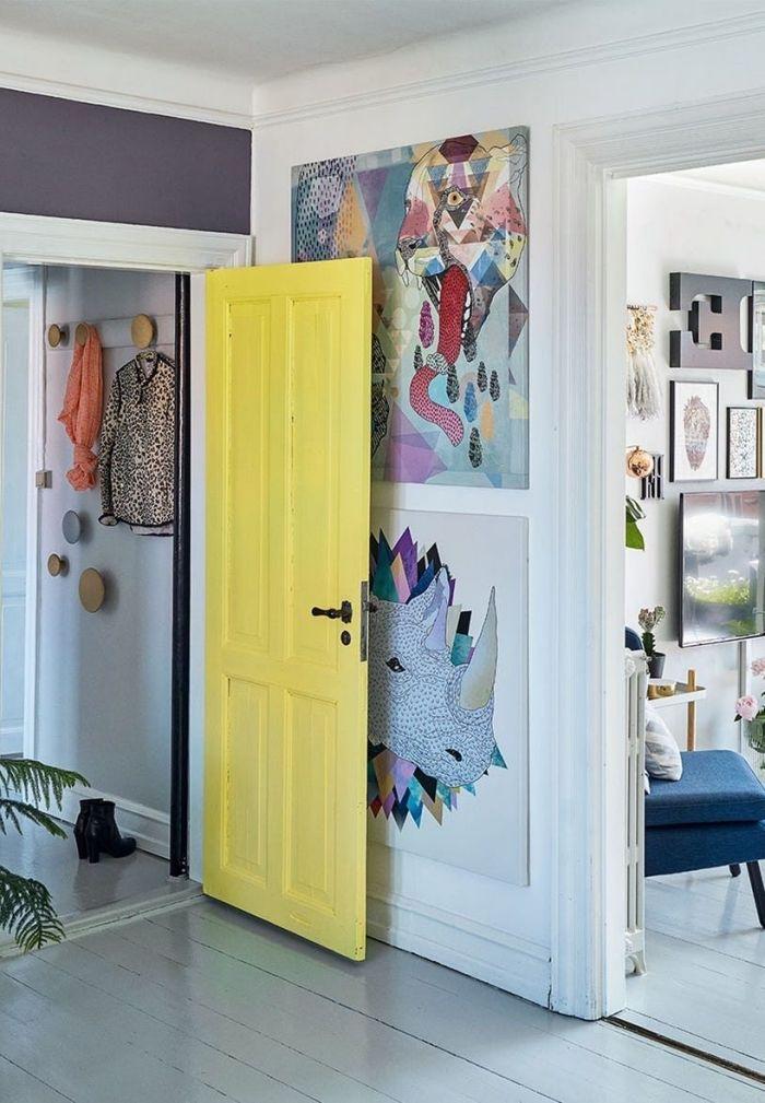 ▷ 1001 + idées originales comment peindre une porte intérieure - couleur des portes interieur