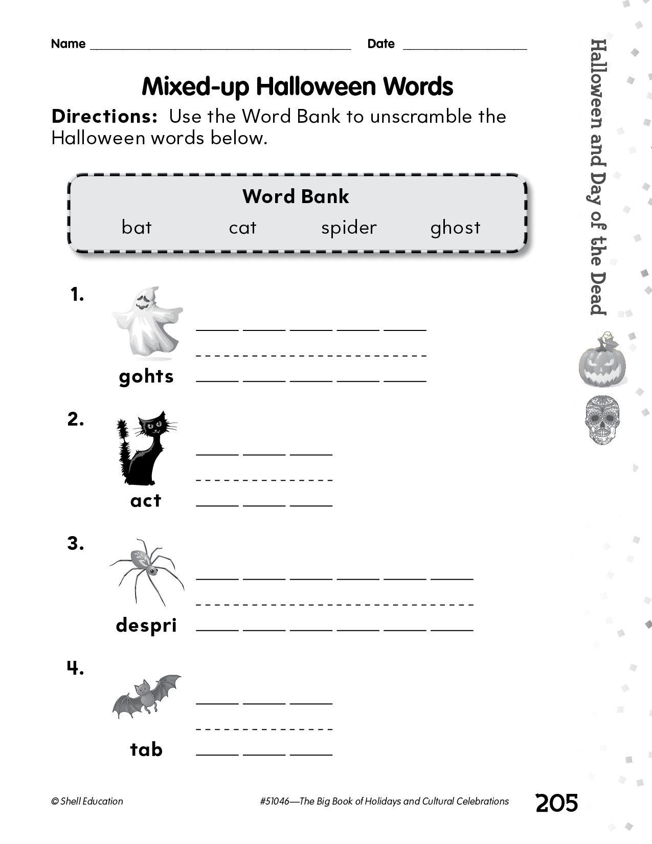 Enjoy This Festive Halloween Word Scramble Activity From