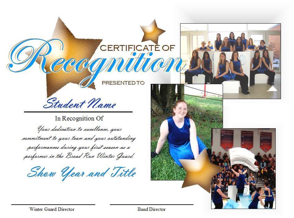 Make your award certificates a keepsake color guard educators make your award certificates a keepsake yadclub Images