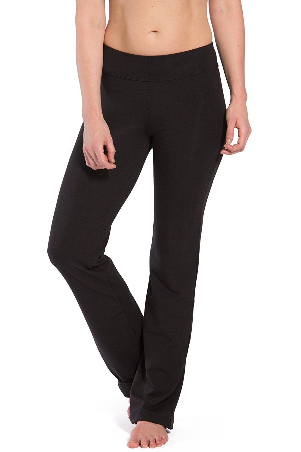 4f51a29ad541d Women's Clothing, Active, Active Pants, Women's Ecofabric Classic Bootleg  Yoga Pant - Back Pockets - Black - C212GTYDADF #women #fashion #clothing  #style ...