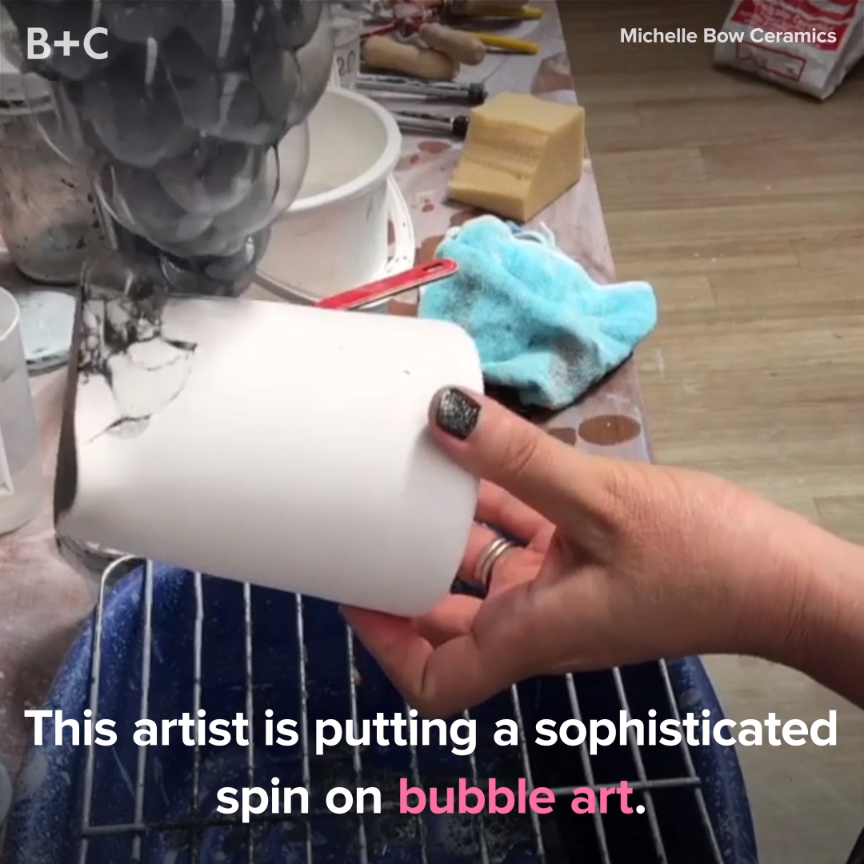 This Artist Takes Bubble Art To the Next Level #ceramicpainting