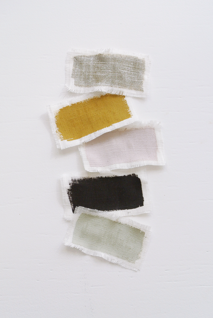 painted swatches // mustard, color of the year