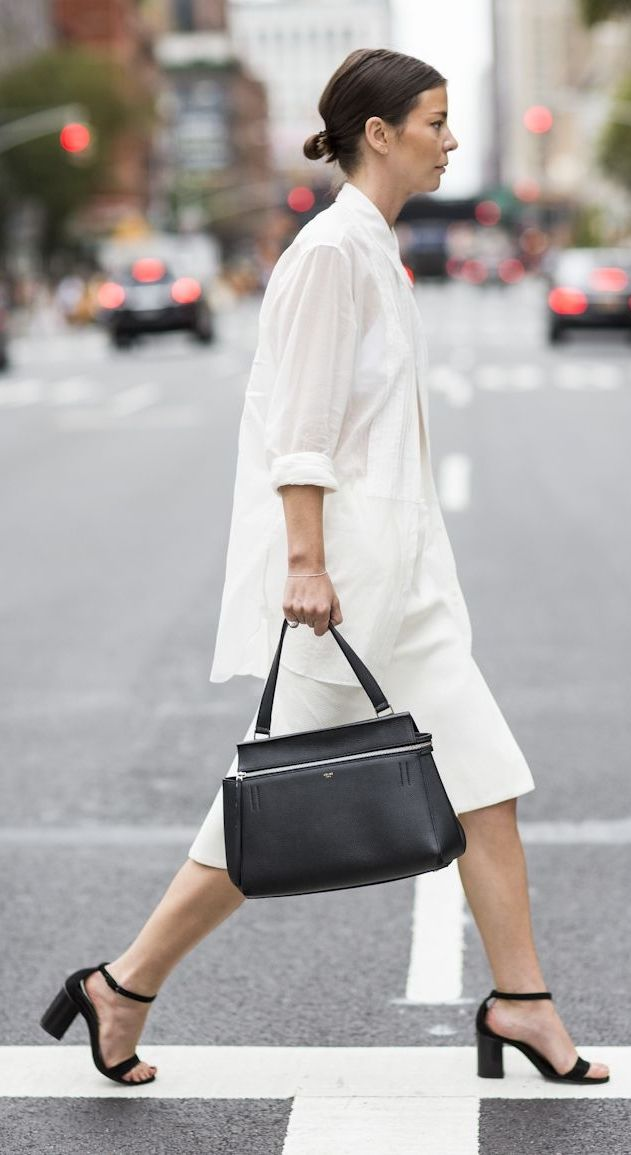 Another reason to invest in a classic oversized white button up shirt.