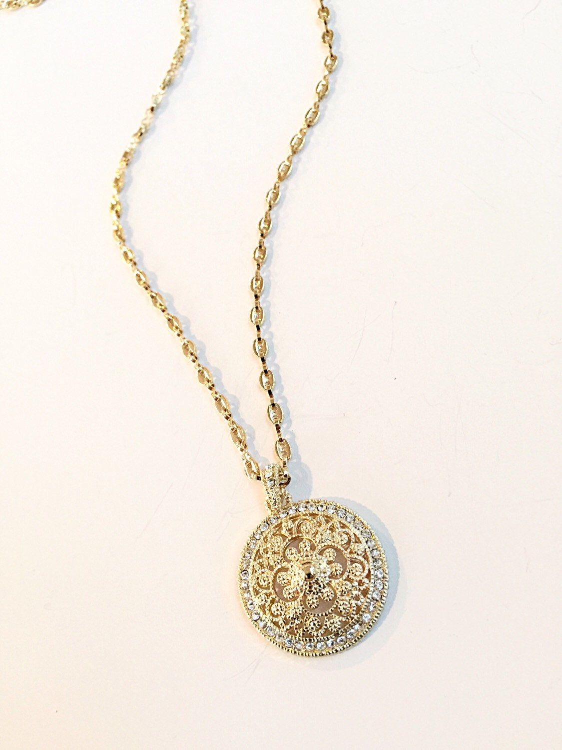 my necklace pin gold etsy chain favorite medallion listing to on shop com from a druzy similar layering items personal s