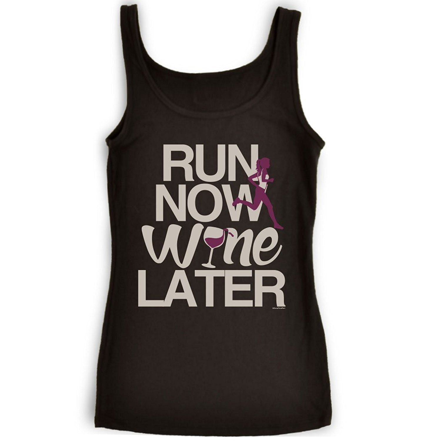 Womens Running Tank Top | Run Now Wine Later (Bold) | Multiple Sizes and Colors at Amazon Women's Clothing store:  https://www.amazon.com/gp/product/B00S8MVP60/ref=as_li_qf_sp_asin_il_tl?ie=UTF8&tag=rockaclothsto_fitness-20&camp=1789&creative=9325&linkCode=as2&creativeASIN=B00S8MVP60&linkId=af5ba89ffaf19b92e24b0319cc472282