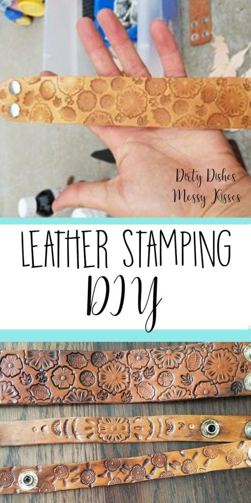 Photo of DIY Leather Stamping – dirtydishesmessykisses.com