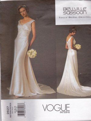 Vogue Pattern 2627 Bellville Sassoon Bridal Original Misses14 18