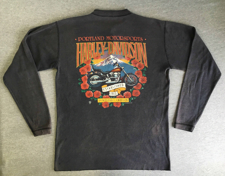 Harley Davidson Portland >> Harley Davidson Shirt 1988 Vintage 80s Rare Portland