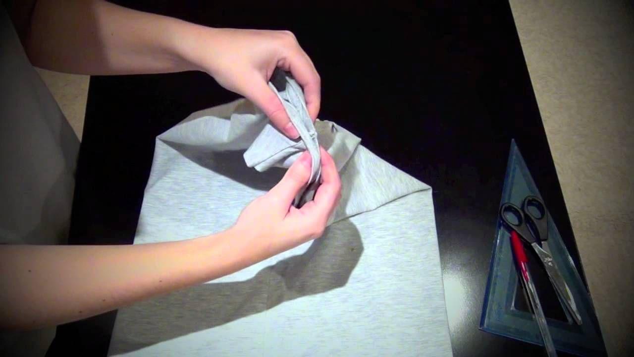 DIY camiseta con cortes en la espalda