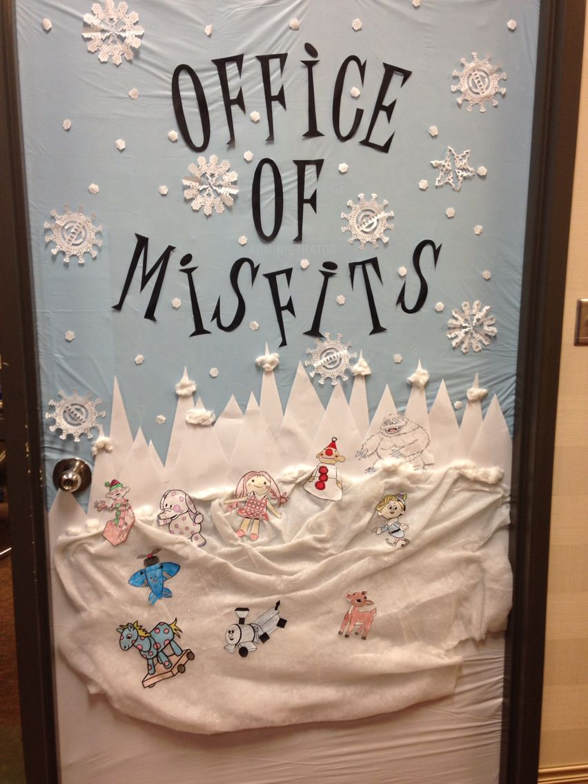 Christmas Door Decorated Rudolph And The Island Of Misfit Toys Christmas Door Decorating Contest Door Decorating Contest Christmas Classroom Door