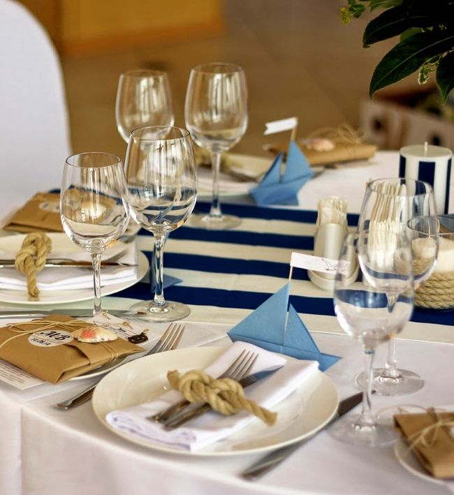 Beach Theme Table Setting