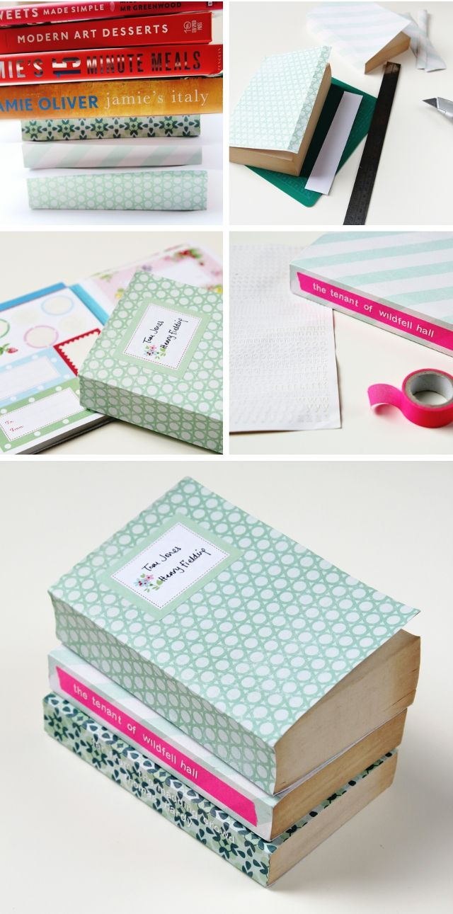 How To Make A Book Cover Using Paper ~ Diy scrapbook paper book covers diy diy scrapbook